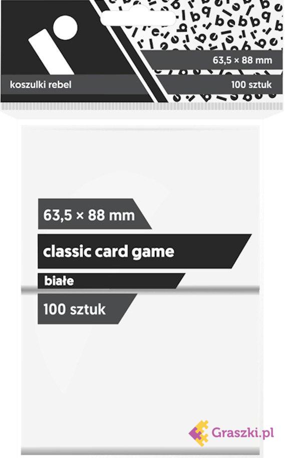 Koszulki na karty Rebel (63,5x88 mm) Classic Card Game, 100 sztuk, Białe // darmowa dostawa od 249.99 zł // wysyłka do 24 godzin! // odbiór osobisty w Opolu